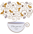 floral coffee vector image
