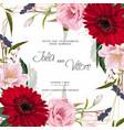 floral wedding invitation card template design vector image vector image