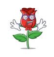 geek red rose character cartoon vector image