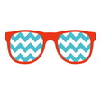 Glasses Icon in flat style vector image