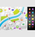 gps street map vector image