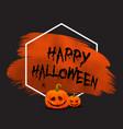 grunge halloween background with pumpkins vector image vector image