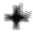 Grunge isolated cross