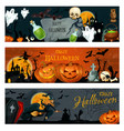 halloween banner for spooky october holiday design vector image vector image