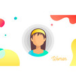 hand-drawn woman avatar vector image vector image