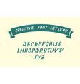 Handwritten font character symbols vector image vector image