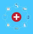 healthcare symbol icon vector image