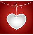 Heart on a string frame vector image vector image