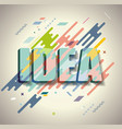 idea concept with aabstract design retro style vector image vector image