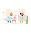 kids playing doctor boy and girl vector image vector image
