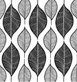 leaf sketch doodle set 1 white vector image vector image
