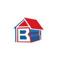 letter b home logo design vector image vector image