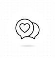love chat icon vector image