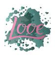 love for logotype flyer banner vector image