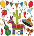Mexican fiesta party vector | Price: 3 Credits (USD $3)