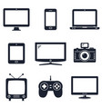 modern technology devices icons vector image