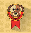 pet dog winner medal award vector image vector image