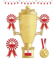 poland football trophy vector image vector image
