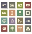 Post service simply icons vector image vector image