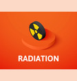 radiation isometric icon isolated on color vector image