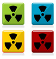 Radioactivity sign buttons vector image vector image