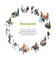 restaurant cafe or bar personnel people 3d banner vector image