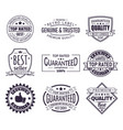 retro or vintage logo for company brand stamp vector image vector image