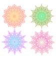 round gradient mandala on white background vector image vector image