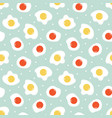 seamless pattern background with fried eggs vector image vector image