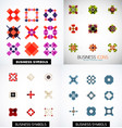 set of colorful abstract symmetric geometric icons vector image vector image