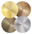 Set of four different metal discs vector image vector image
