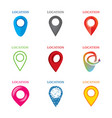 set of geolocation logos vector image vector image