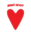 Sewed Handmade Heart vector image vector image