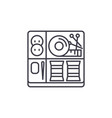 sewing kit line icon concept sewing kit vector image