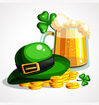 st patrick s day composition holiday symbols vector image vector image