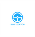 steer location icon vector image