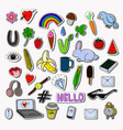 stickers collection isolated on gray background vector image vector image