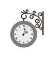 street vintage wall clock vector image vector image