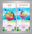 summer party poster design all night dance vector image