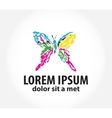 template logo with butterfly vector image vector image