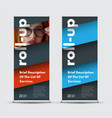 templates roll-up banners with diagonal elements vector image vector image