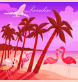 tropical paradise background summer time banner vector image vector image