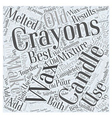 Use Old Crayons to Make Candles Word Cloud Concept vector image vector image