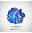 Watercolor blue background with blots vector image