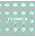 white and pink flower blue background pattern vect vector image vector image