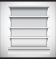 White supermarket shelves vector image vector image