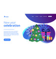 winter holidays concept landing page vector image vector image