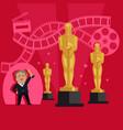 film awards design flat banner concept vector image