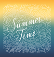 Summertime Handwritten doodle vector image