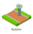 bubbler icon isometric style vector image